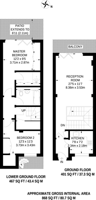 Large floorplan for Gosfield Street, Fitzrovia, W1W