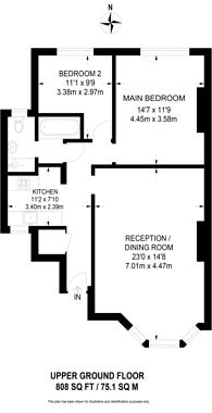 Large floorplan for Brondesbury Villas, Queen's Park, NW6