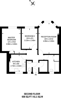 Large floorplan for Camden Park Road, Camden, NW1
