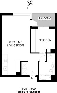 Large floorplan for Fitzroy Place, Fitzrovia, W1T