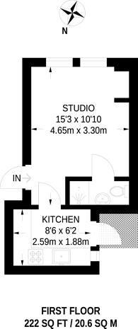 Large floorplan for Ballards Lane, North Finchley, N3
