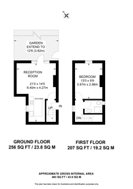 Large floorplan for Lincoln Road, South Norwood, SE25