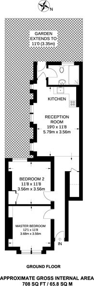 Large floorplan for Kingswood Road, Brixton, SW2