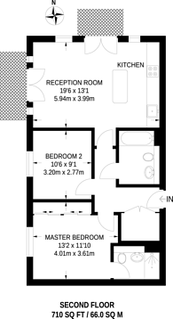 Large floorplan for Bader Way, Roehampton, SW15
