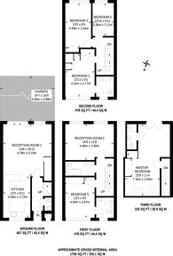 Large floorplan for Putney Heath Lane, Putney Heath, SW15