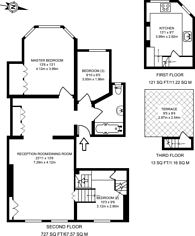 Large floorplan for Muswell Hill Road, Muswell Hill, N10