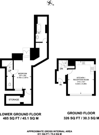 Large floorplan for Exchange Court, Covent Garden, WC2R