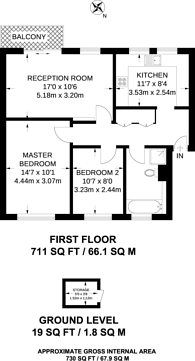 Large floorplan for Beckenham Lane, Bromley, BR2