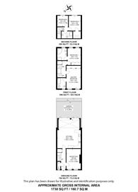 Large floorplan for Redington Gardens, Hampstead, NW3