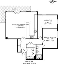 Large floorplan for Langbourne Place, Docklands, E14