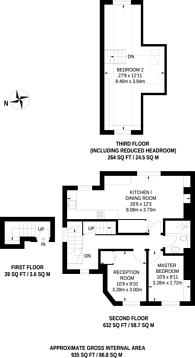 Large floorplan for Wood Vale, Forest Hill, SE23