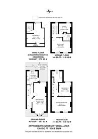 Large floorplan for Kitson Road, Camberwell, SE5