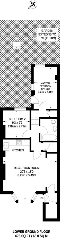 Large floorplan for Northwood Road, Highgate, N6