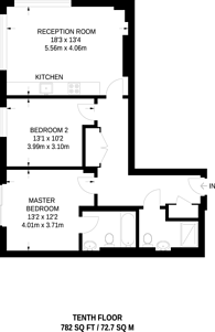 Large floorplan for Kensington High Street, High Street Kensington, W14