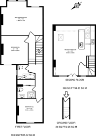 Large floorplan for Barry Road, East Dulwich, SE22