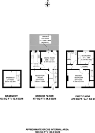 Large floorplan for The Mount, Guildford, GU2