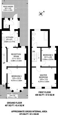 Large floorplan for Morley Road, Stratford, E15