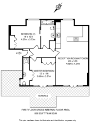 Large floorplan for Acton Street, Islington, WC1X