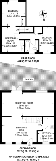 Large floorplan for Mulberry Close, New Barnet, EN4