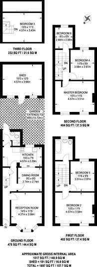 Large floorplan for Mayton Street, Islington, N7