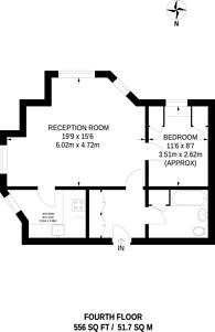Large floorplan for Sherborne Court, Cromwell Road, Kensington, SW5