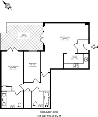 Large floorplan for Earlsfield House, Kingston, KT2