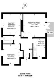Large floorplan for Glenallan House, West Kensington, W14