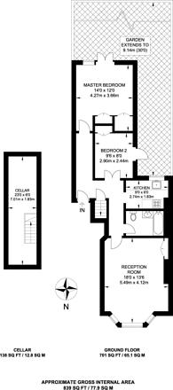 Large floorplan for Clapham Common, Clapham Common Westside, SW4