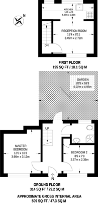 Large floorplan for Estreham Road, Streatham Common, SW16