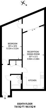 Large floorplan for Coral Apartments, Royal Docks, E16