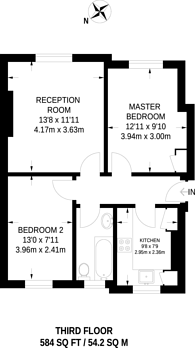 Large floorplan for Hartington Road, Vauxhall, SW8