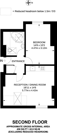 Large floorplan for Fordwych Road, NW2, West Hampstead, NW2