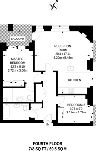 Large floorplan for Cromwell Road, South Kensington, SW7