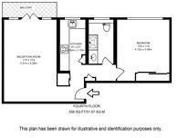 Large floorplan for Royal Avenue House, Chelsea, SW3