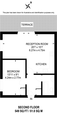 Large floorplan for Vauxhall Street, Vauxhall, SE11