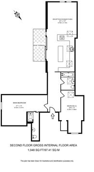 Large floorplan for Gleneldon Road, Streatham, SW16