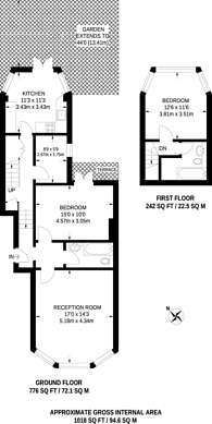 Large floorplan for Lower Clapton Road, Clapton, E5