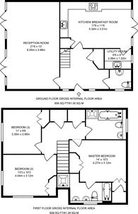 Large floorplan for Kyngeshene Gardens, Guildford, GU1
