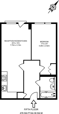 Large floorplan for Grosvenor Waterside, Belgravia, SW1W