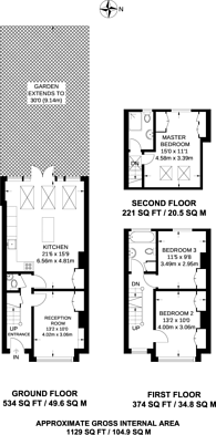 Large floorplan for Albany Road, Wimbledon, SW19