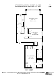Large floorplan for Cleve Road, West Hampstead, NW6
