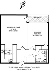 Large floorplan for Nichols Court, Shoreditch, E2