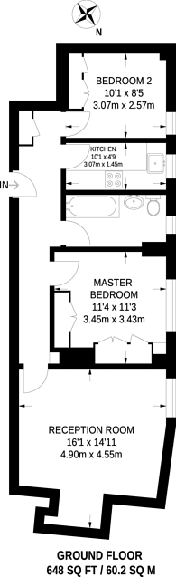 Large floorplan for College Crescent, Hampstead, NW3