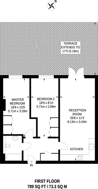 Large floorplan for Axminster Road, Islington, N7