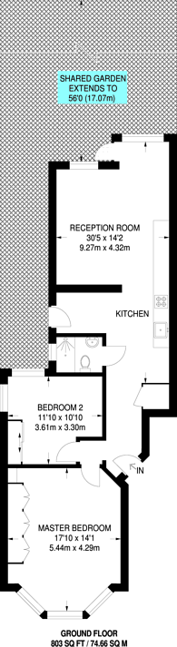 Large floorplan for North End Road, Golders Green, NW11