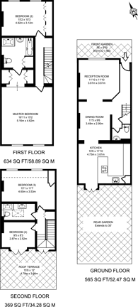Large floorplan for Paxton Road, Grove Park, W4