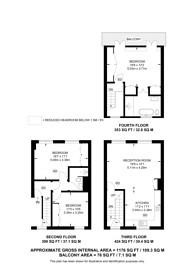 Large floorplan for Coptic Street, Bloomsbury, WC1A