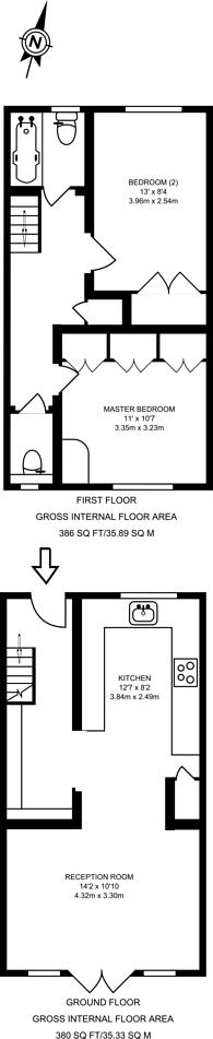 Large floorplan for Marrick Close, Putney, SW15