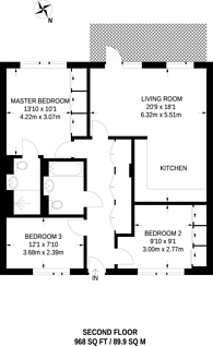 Large floorplan for The Bevenden, Hoxton, N1