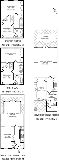 Large floorplan for Harley Road, Primrose Hill, NW3